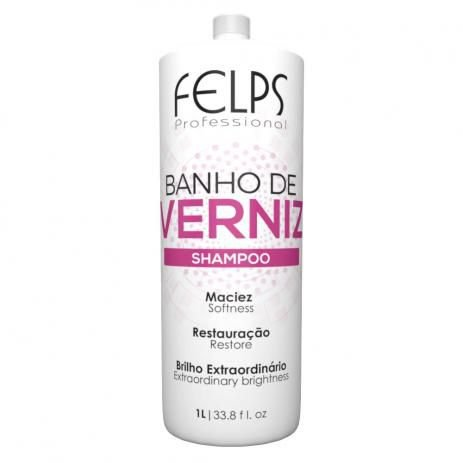 Shampoo Banho de Verniz Brilho Intenso Felps Professional 1000ml