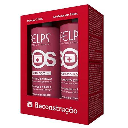 Kit Reconstrução SOS Shampoo e Condicionador Felps Professional 2X250ml