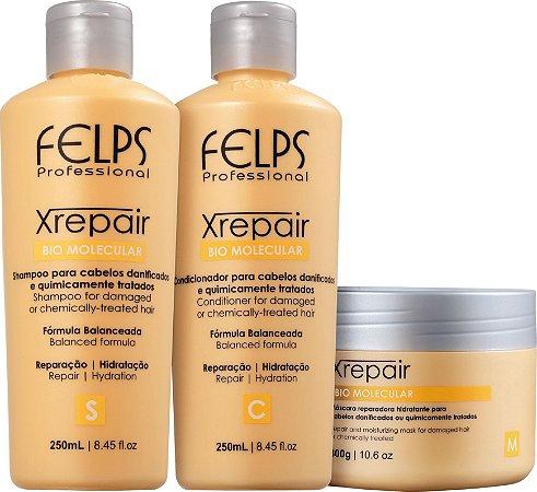 Kit Felps Profissional XRepair Bio Molecular (3 Produtos)