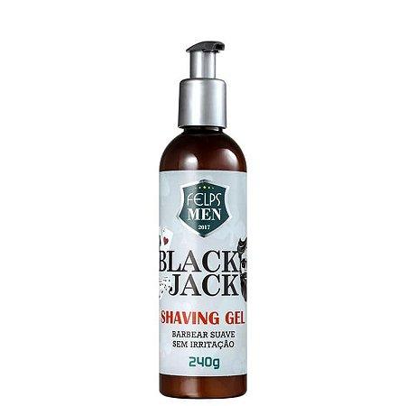 Gel de Barbear Suave Black Jack Shaving Gel Felps Men 240g