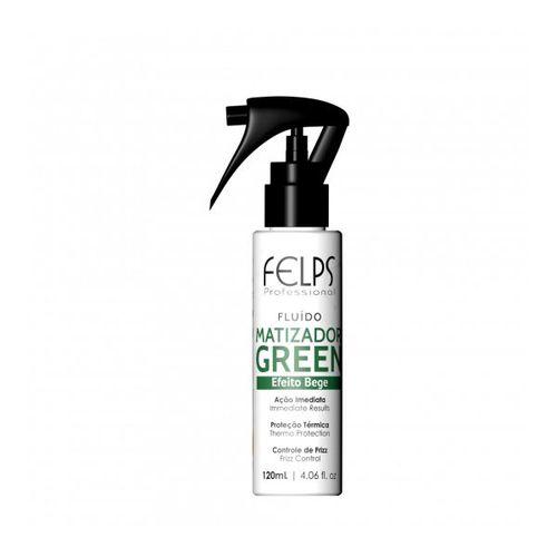 Matizador Green Efeito Bege Spray Felps Professional Color 120ml