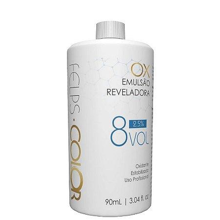 Água Oxigenada Felps Professional - Emulsão Reveladora 8 Vol 90ml