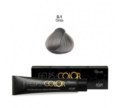 Coloração em Creme Cinza Corretor 0.1 Felps Color Professional 60g