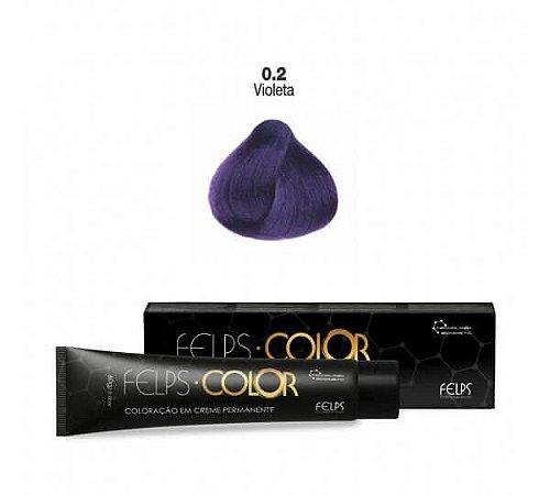 Coloração em Creme Permanente Violeta 0.2 Felps Color Professional 60g