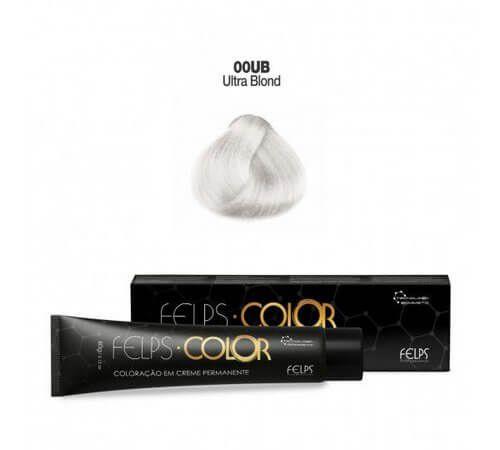 Coloração em Creme Ultra Blond Mecha Branca 00UB Felps Color Professional 60g