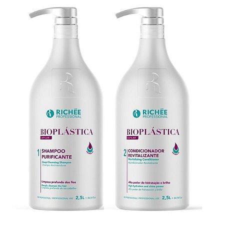 Shampoo e Condicionador Bioplástica Richée Professional Galão 2×2,5L