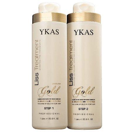 Escova Progressiva Ouro Liss Treatment Gold Ykas 2X1000ml