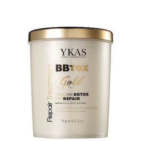 Máscara de Alinhamento Capilar Gold Pro Repair BBTox Ykas 1kg