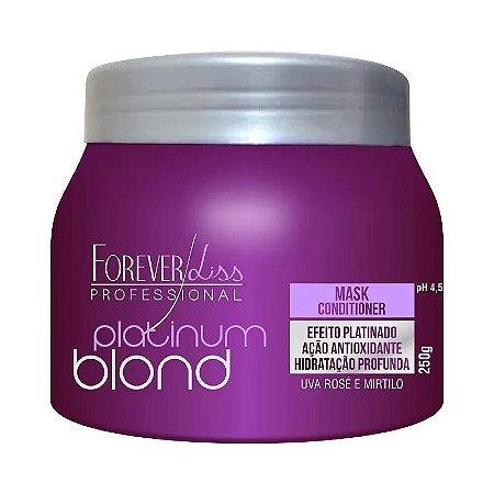 Máscara Matizadora Platinum Blond Efeito Platinado Forever Liss 250g