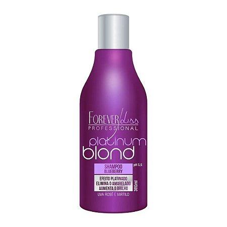 Shampoo Matizador Platinum Blond Efeito Platinado Forever Liss 300ml