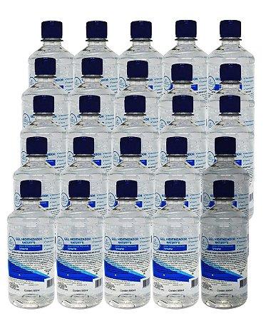 Álcool Gel 70% Bactericida New Beauty 500ml - 25 Unidades
