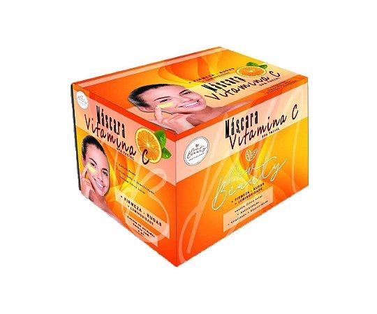 Máscara Facial Vitamina C Spa Facial New Beauty - Display Com 50 Sachê 8g