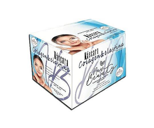 Máscara Facial Colagen e Elastina Spa Facial New Beauty - Display Com 50 Sachê 8g