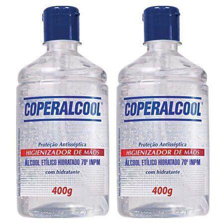 Álcool Gel Higienizador De Mãos 70° Coperalcool 400G - 2 Unidades