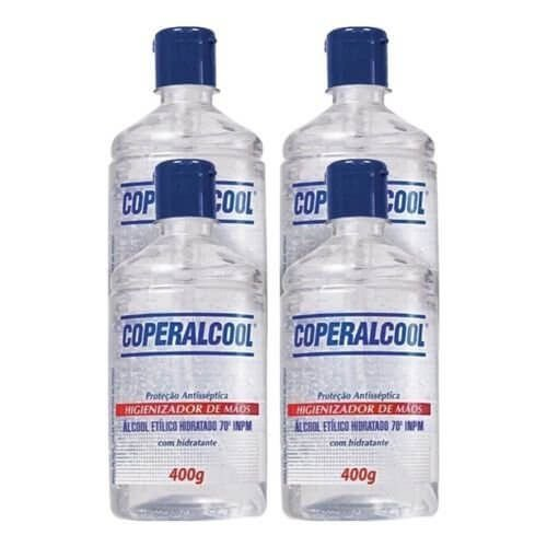 Álcool Gel Higienizador De Mãos 70° Coperalcool 400G - 4 Unidades
