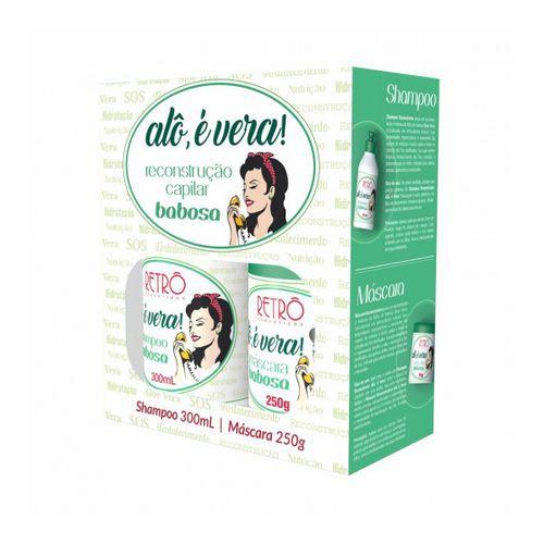Shampoo e Máscara Babosa Reconstrutor Alô é Vera Retrô - 2 Produtos