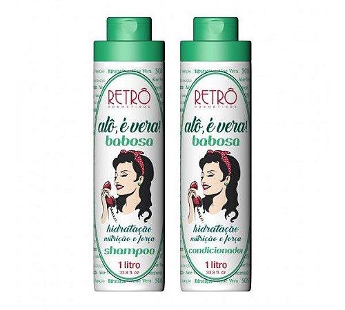 Shampoo e Condicionador Babosa Alô é Vera Retrô Cosméticos - Kit 2x1000mL
