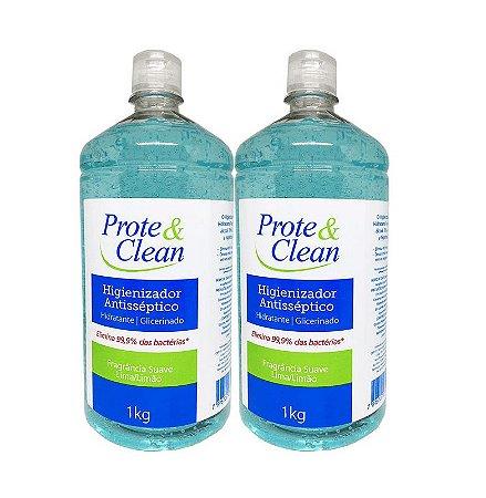 Álcool em Gel Higienizador Antisséptico Prote & Clean 1Kg - 2 Unidades
