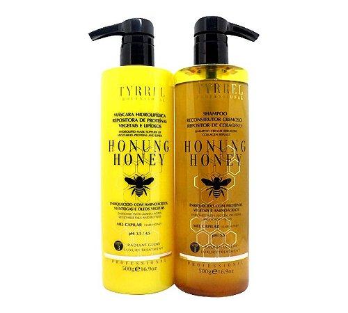 Kit Honung Honey Reconstrutor Mel Capilar Tyrrel Professional 2x500g