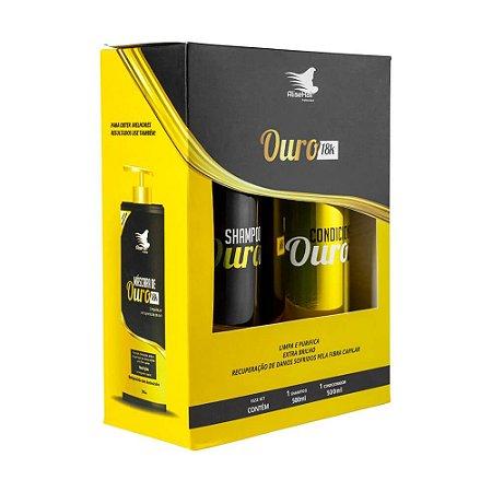 Kit Shampoo e Condicionador Ouro 18K Alise Hair 2X 500ml