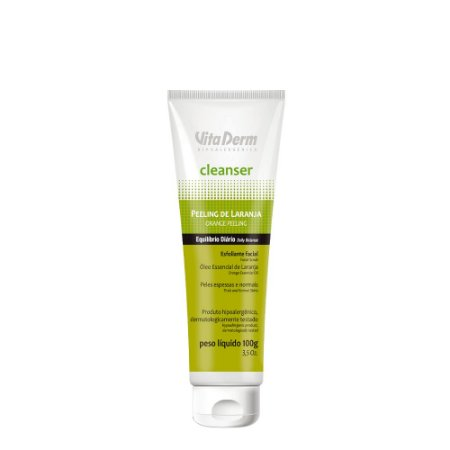 Esfoliante Facial Peeling Cleanser de Laranja Vita Derm 100g