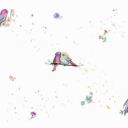 Papel de parede pássaros - Bobinex cód. 3607