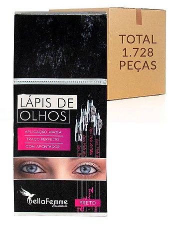 Lápis Preto de Olhos – Bella Femme BF10003B – Caixa Fechada com 144 Dúzias