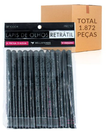 Lápis de Olhos Retrátil – Bella Femme BF10004 – Caixa Fechada com 156 Dúzias
