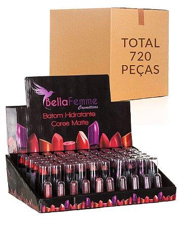 Batom Hidratante – Bella Femme BF10012 – Caixa Fechada com 12 Displays