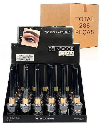 Delineador Líquido – Glam Black – Bella Femme BF10041 – Caixa Fechada com 12 Displays