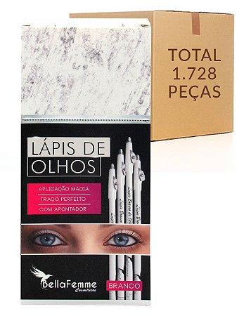 Box de Lápis Branco de Olhos – Bella Femme BF10051B – Caixa Fechada com 144 dúzias