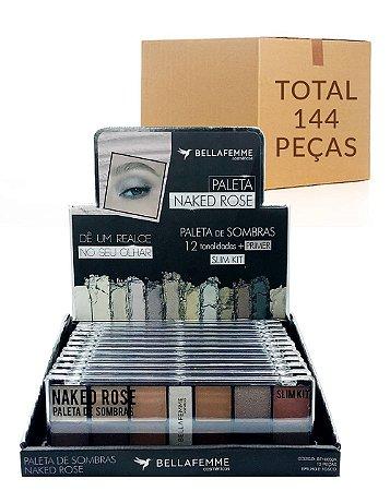 Paleta de Sombras Naked Rose – Bella Femme BF10056A – Caixa Fechada com 12 Displays