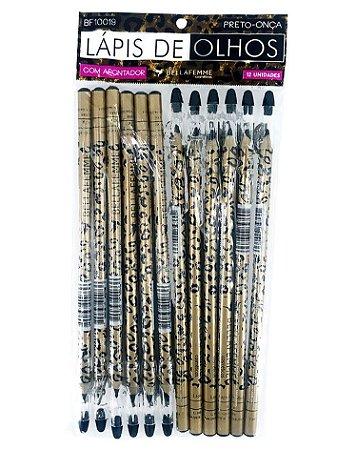 Lápis Preto de Olhos – Oncinha – Solapa com 12 unidades