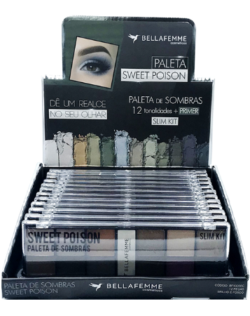 Paleta de Sombras Sweet Poison – Display com 12 estojos