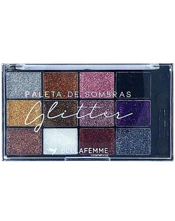Paleta de Sombras Glitter – Display com 12 estojos