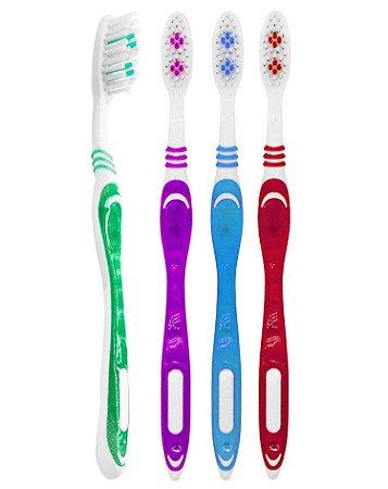 Escova Dental Média Dentes Saudáveis - 60 dúzias