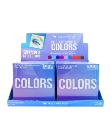 Paleta de Sombras Colors – Display com 12 estojos