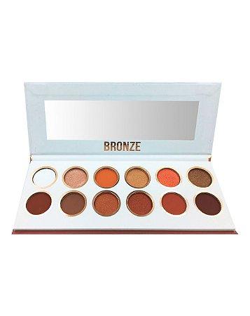 Paleta de Sombras Bronze – Display com 12 estojos