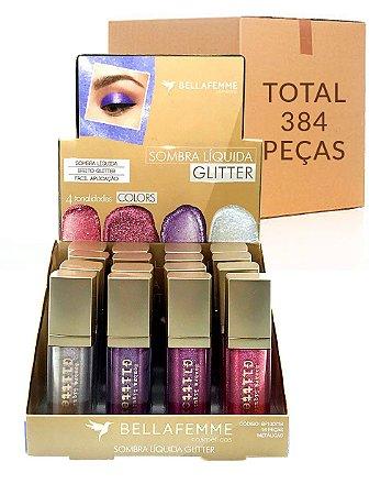 Sombra Líquida Glitter - Color – Bella Femme BF10071B – Caixa Fechada com 24 Displays