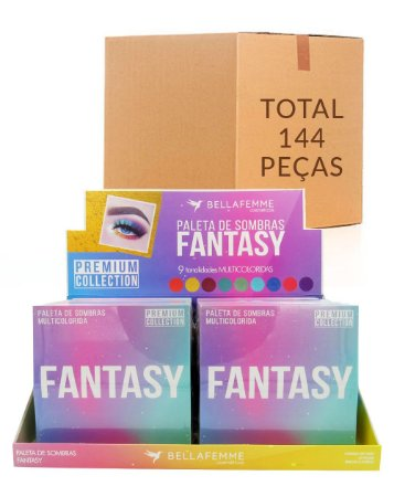 Paleta de Sombras Fantasy – Bella Femme BF10067 – Caixa Fechada com 12 Displays