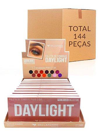 Paleta de Sombras Daylight – Bella Femme BF10064 – Caixa Fechada com 12 Displays