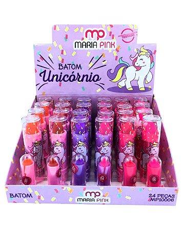 Batom Unicórnio – Maria Pink MP10006 – Caixa Fechada com 24 Displays
