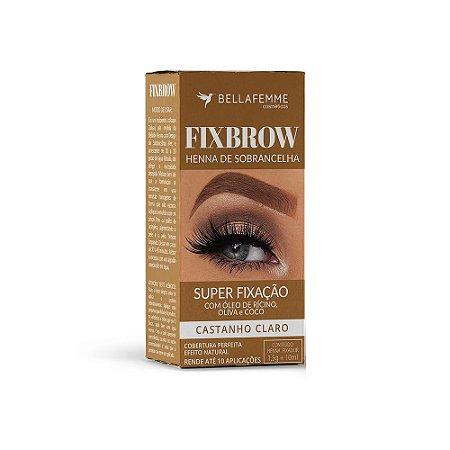 FixBrow Castanho Claro – Henna de Sobrancelha 12 Unidades