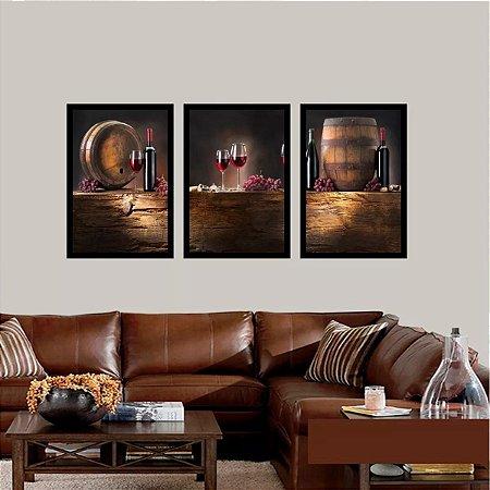 Quadro decorativo para quarto e sala vinho adega