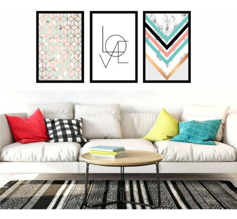 Quadro Mosaico Abstrato Para  Quarto Sala