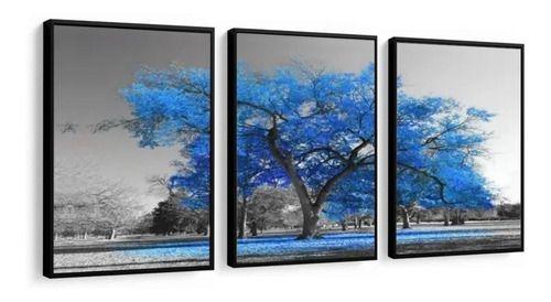 Quadro decorativo sala/ quarto paisagen arvore da vida com moldura e vidro