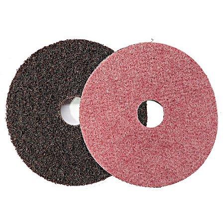 Disco De Surface 115mm Com Velcro Vermelho 4-1/2 Pol.