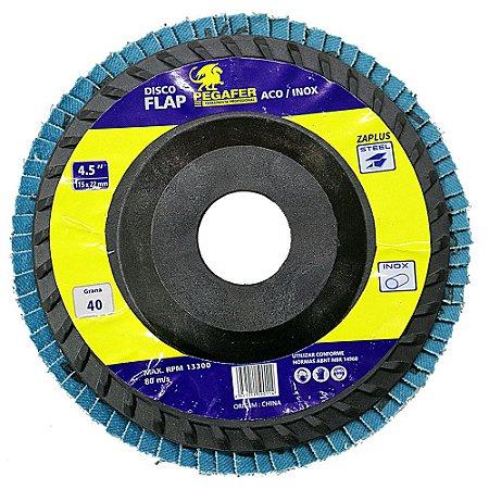 Disco Flap De 4-1/2 Pol. Grão 60 Para Metal - Madeira