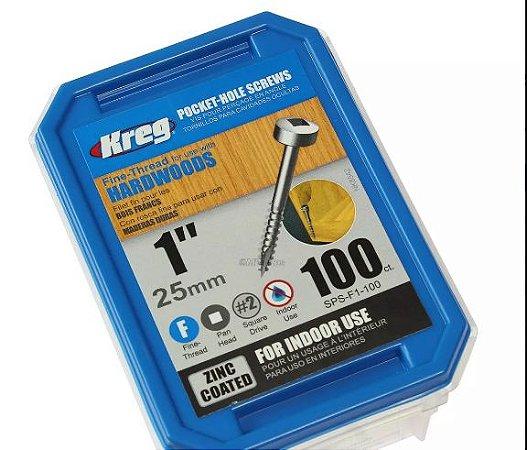 Parafuso Kreg Sps-f1 25mm 100 Pçs P/ Madeira - Kreg Jig