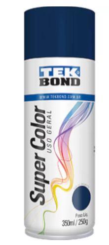 Tinta Spray Super Color Azul Escuro Uso Geral com 350ml/250g - TEKBOND